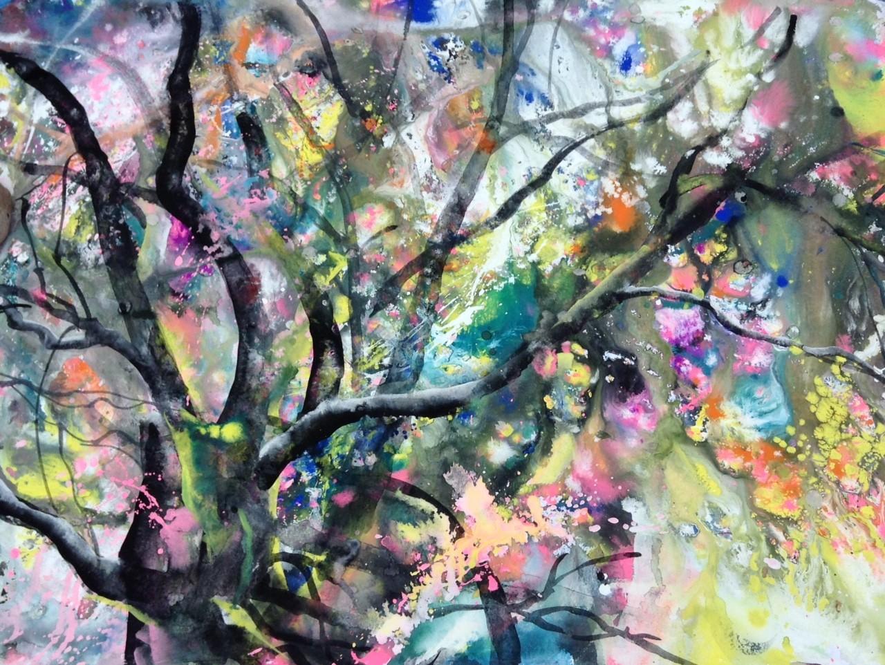 2018-4-能登の桜-acrylic,ink